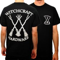 Witchcraft Broomstick T-Shirt Black