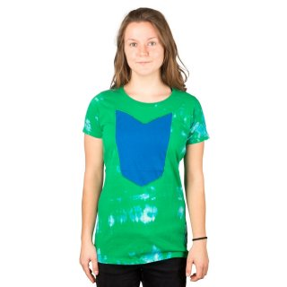 R.I.P. Python Girl Shirt Green Blue