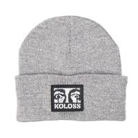 Dali Eyes Beanie Grey White