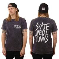 SkateMetalPunks T-Shirt Acid Washed Indigo