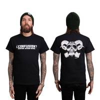 Confusion Goat Skull T-Shirt Black