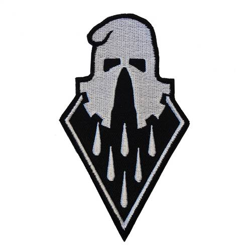 BLOODMASK Executioner gestickter Patch Grey