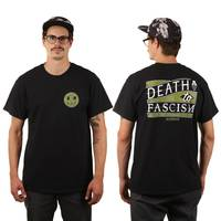 Death to Fascism T-Shirt Black Green