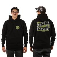 BLOODMASK Death to Fascism Hoodie Black Green M