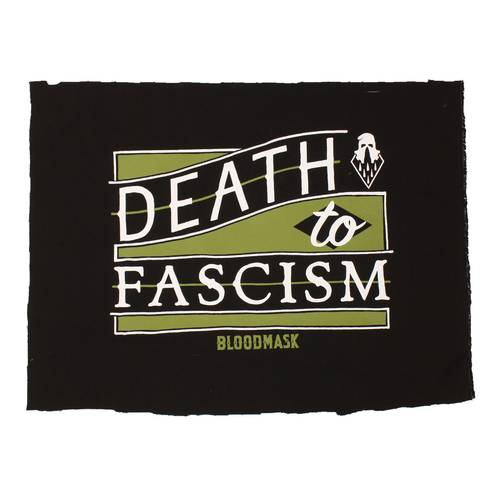 Death to Fascism Backpatch Black Green