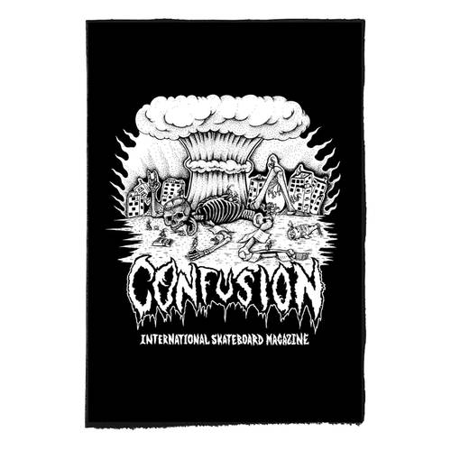 Confusion Cockroach DIY Backpatch Black