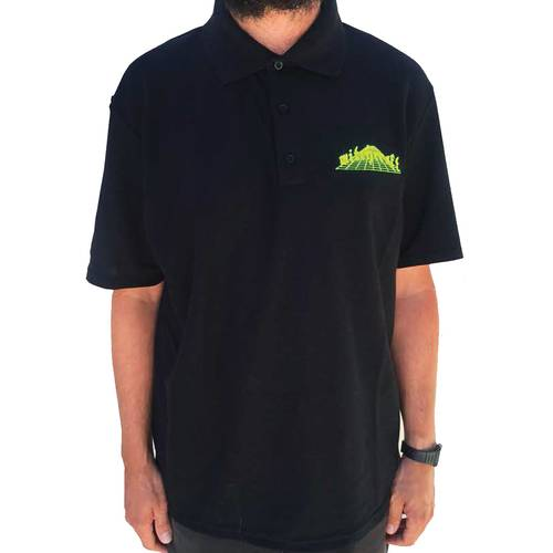Trans Dimensional Polo Shirt Black L