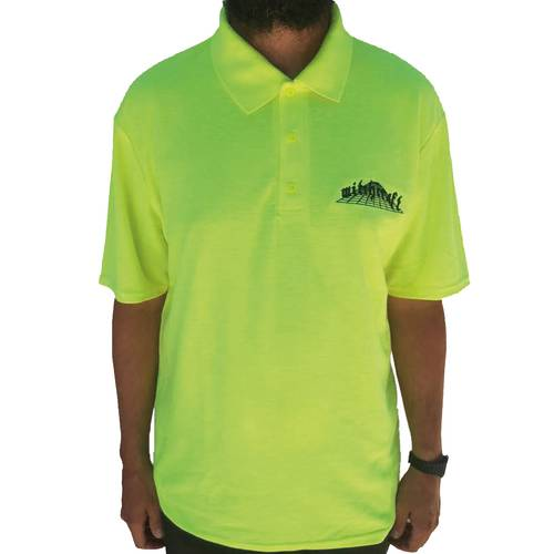 Trans Dimensional Polo Shirt Safety Yellow