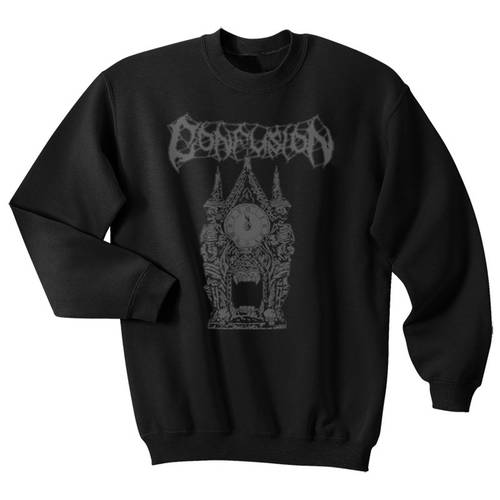 Confusion Clocktower Crewneck Sweater Black
