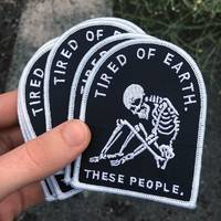 Life Club Tired of Earth Gestickter Patch