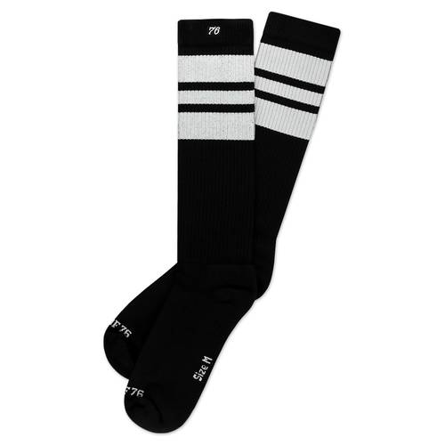 The White Whites On Black Hi Socken