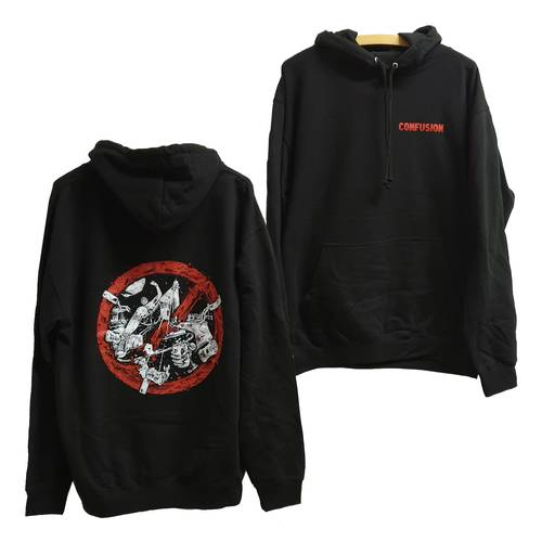 Confusion Breaking the Law Hoodie Black