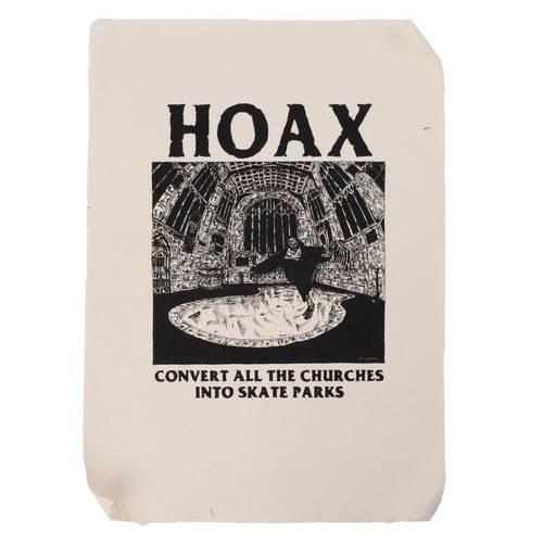 Hoax Convert The Churches Backpatch White