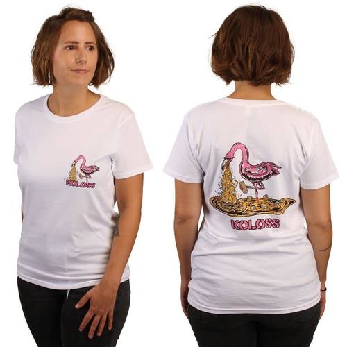 Kotze Flamingo Girl Shirt White