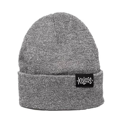 Script Beanie Heather Grey