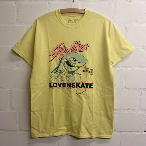 Skate Attack T-Shirt Pale Yellow
