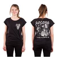 Death by Coffee Girl Shirt Black