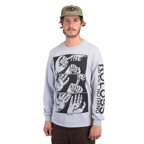 Expect Nothing Longsleeve Heather Grey L