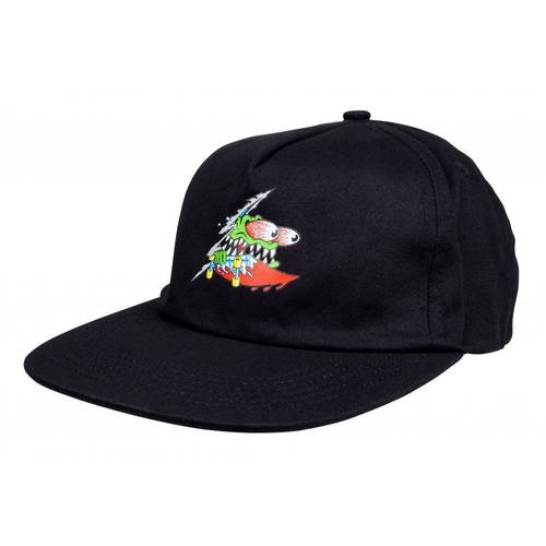 Slashed Cap Black