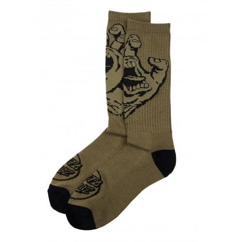 Screaming Hand Mono Socks Army Green