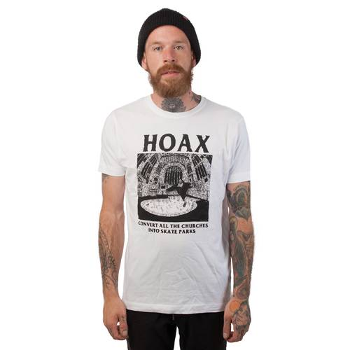 Hoax Convert The Churches T-Shirt White