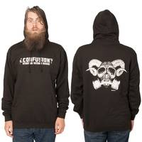 Confusion Goat Skull Hoodie Black L