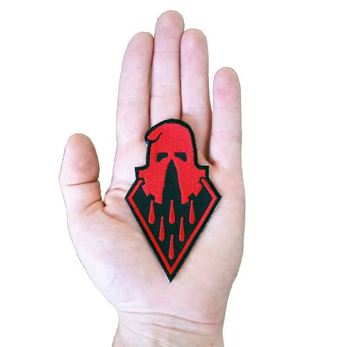 Executioner embroidered Patch red
