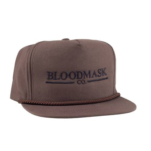 BLOODMASK Company Logo Rope Snapback Brown