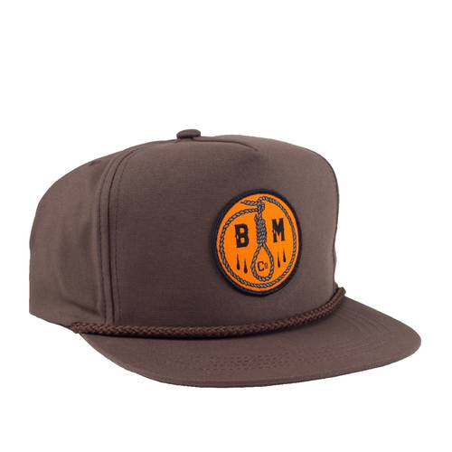 BLOODMASK Noose Snapback Brown
