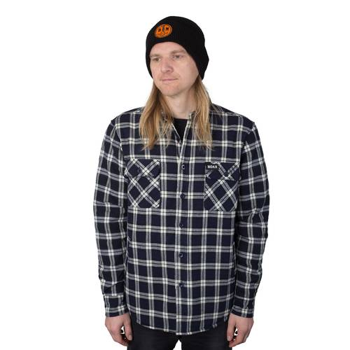 Hoax Black Cross Flannel Sherpa lining
