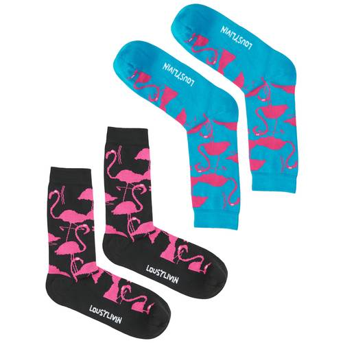 Flamingo Socks Double Pack