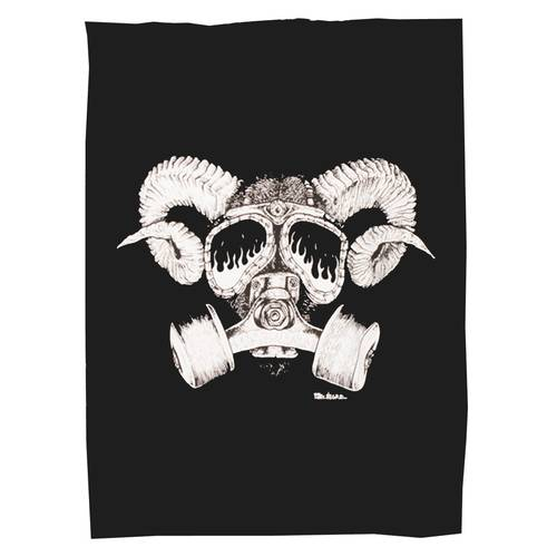 Goat Skull Backpatch Cotton